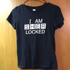BBC Sherlock I Am Sherlocked Black T-Shirt